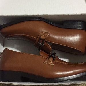 Toddler Boy Tan Brown Easy Strider Dress Shoes NWT